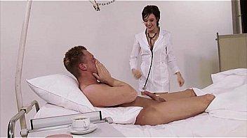 जर्मन, नर्स, वर्दी, अस्पताल, बड़े प्राकृतिक स्तन
